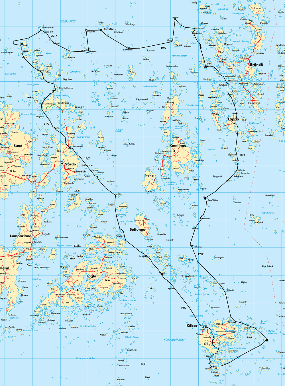 ålands karta